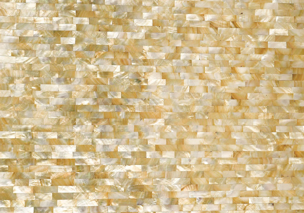 GOLDEN MOTHER OF PEARL BRICK