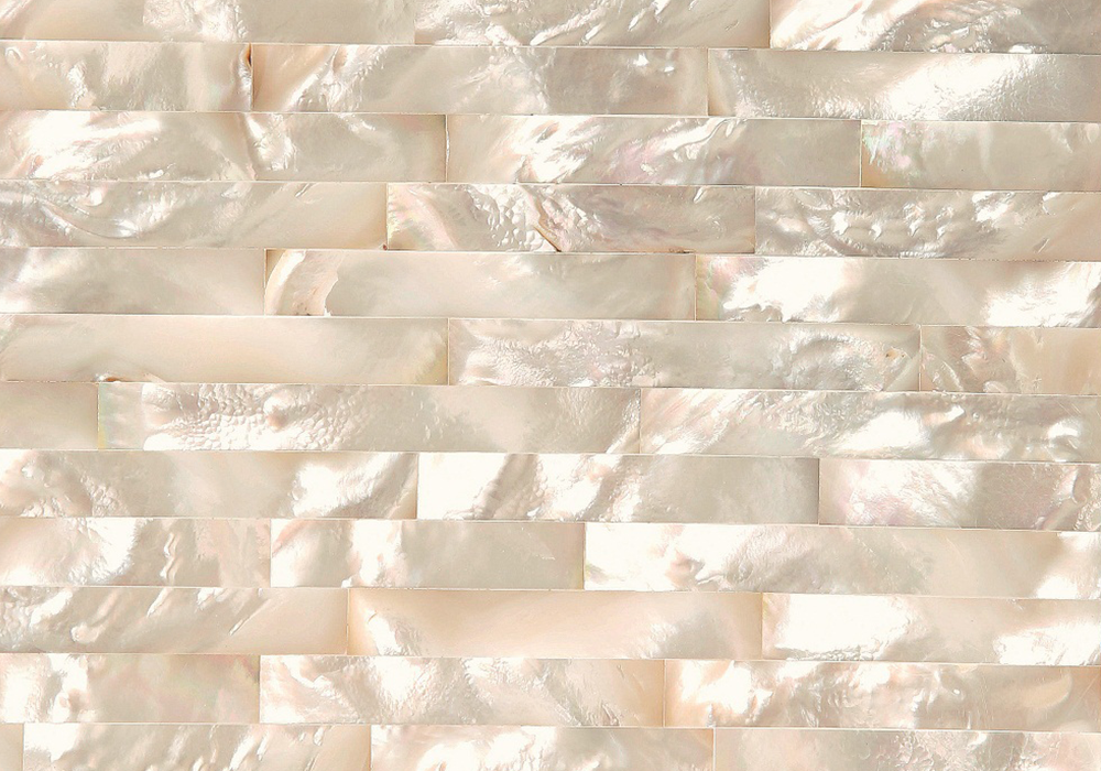 WHITE MOTHER OF PEARL BRICK